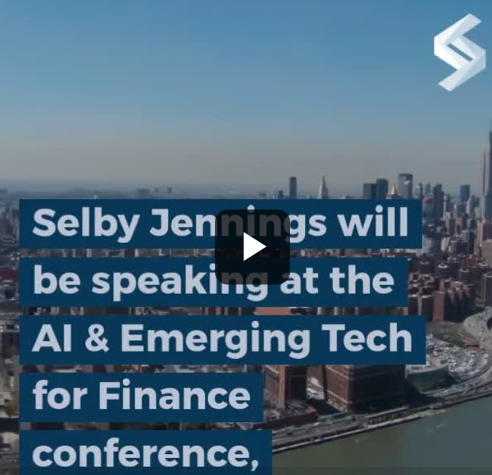 Selby Jennings will be speaking at the AI  and emerging tech for finance conference